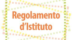 Regolamento d'Istituto